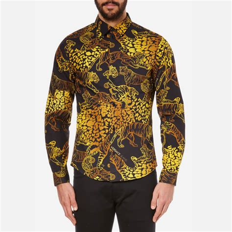 versace s all print sleeve shirt