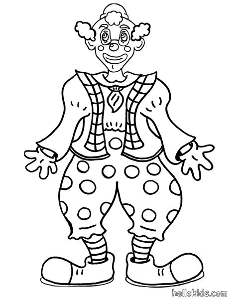 Smiling Clown Coloring Pages Hellokids Com Clown Coloring Page
