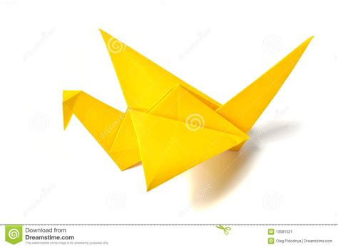 How To Make Paper Yellow - yellow origami crane stock image image 13581521