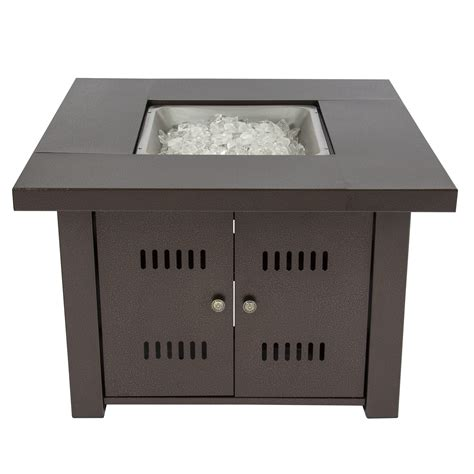 gas pit cover gas outdoor pit table with hammered antique bronze