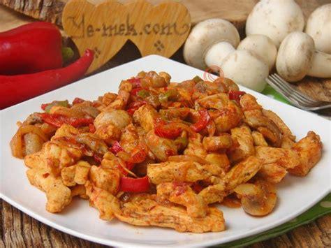 mantarli tavuk sote lezzet tanesi yemek tarifleri acılı mantarlı tavuk sote tarifi nasıl yapılır resimli