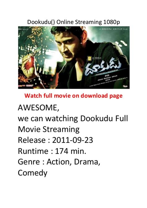 hottest action comedy film dookudu online streaming 1080p hollywood best action