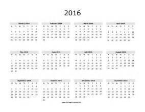 Kuwait Calendrier 2018 2016 Calendar Free Printable Allfreeprintable