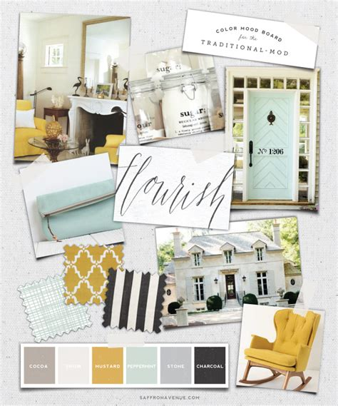 Kitchen Inspiration Mood Board Mood Board Mint Mustard For The Traditional Mod