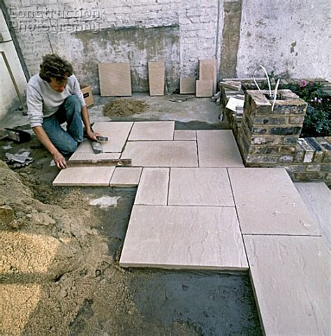 How To Lay Patio Slabs by Patio Laying Patio Slabs