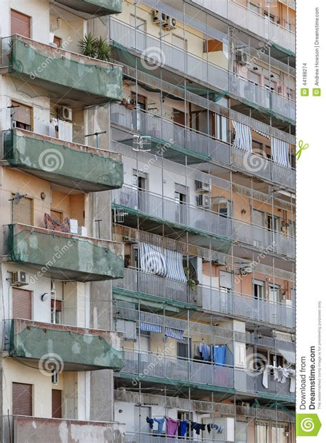 appartments in italy rundown residential building editorial stock image image