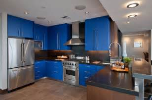 Kitchen With Blue Cabinets Blue Kitchen Cabinets Traditional Kitchen Design Kitchen Design Ideas