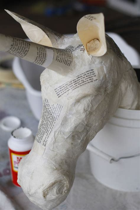 Paper Mache Process - paper mache animal heads pakky105