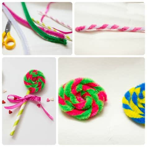 lollipop craft pipe cleaner lollipops land willy wonka and pipes