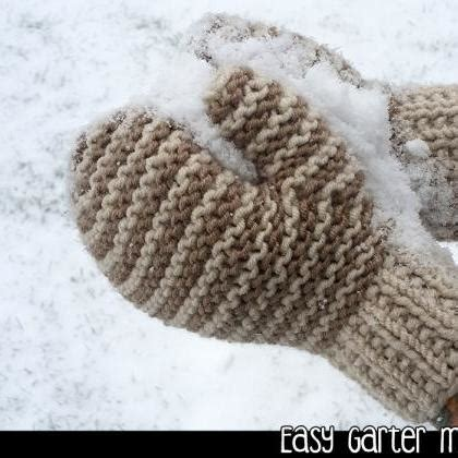 mitten knitting pattern 2 needles easy garter mittens on 2 needles knitting pattern on luulla