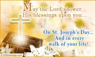 shower his blessings free joseph s day ecards greeting cards 123 greetings