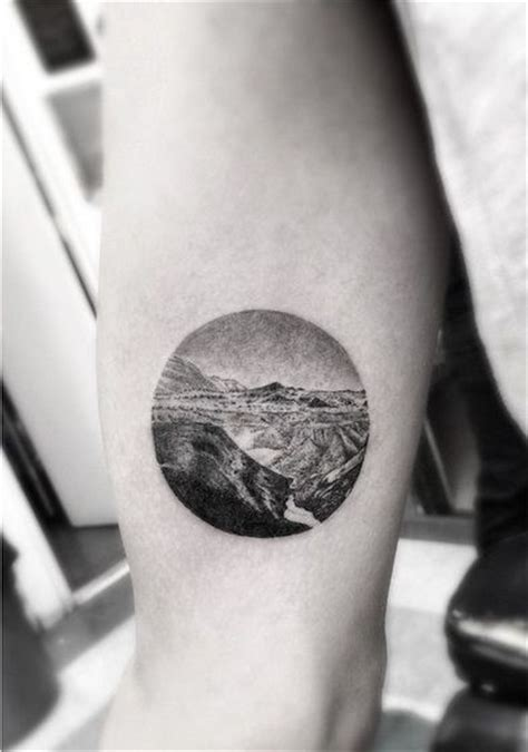 tattoo arm circle beautiful circle nature scene arm tattoo your body is a