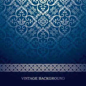 wallpaper biru vintage blue european pattern vector background ornamen 1
