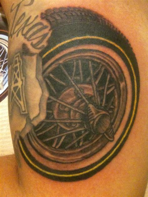 tire tattoo tire by joey rodriguez tattoonow