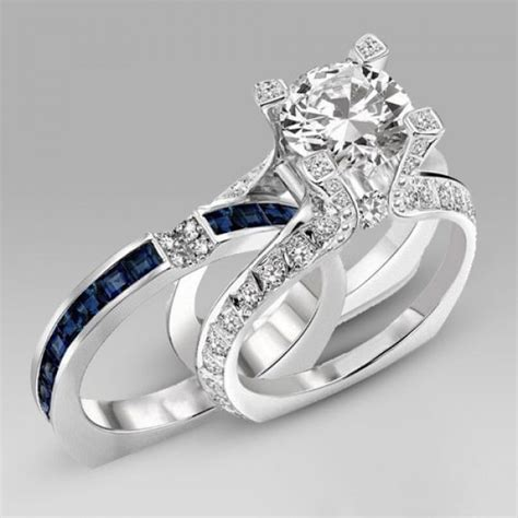 84 sterling silver halo cz wedding set ring cz wedding