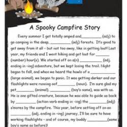 spooky campfire story fill blank reading oasis activities
