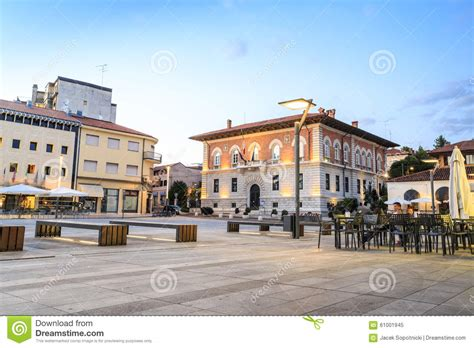 House Plans European main square in monfalcone italy stock image image of