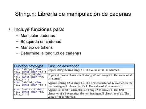 funciones de cadenas en lenguaje c caracteres y cadenas lenguaje c