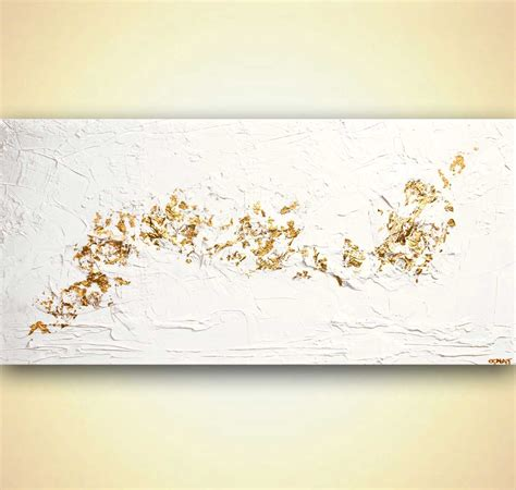 original gold white textured abstract painting modern by osnat ebay