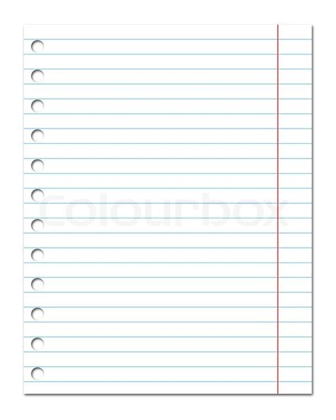Spreadsheet Paper by Blank Sheet Of Paper Stock Photo Colourbox