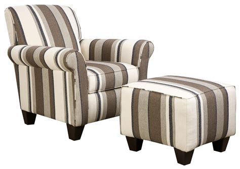 Furniture Natural Stripe Design Upholstered Accent Chairs Decorative Living Room Chairs