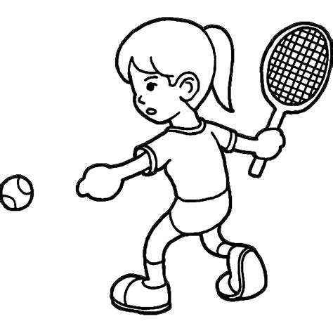 tennis color tennis coloring pages wecoloringpage