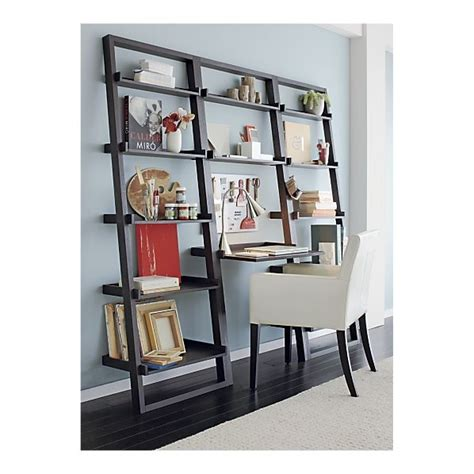 sloane grey 25 quot leaning bookcase