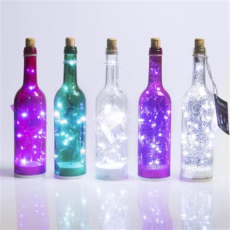 wine bottle battery operated lights lytworx 15 led wine bottle light battery operated