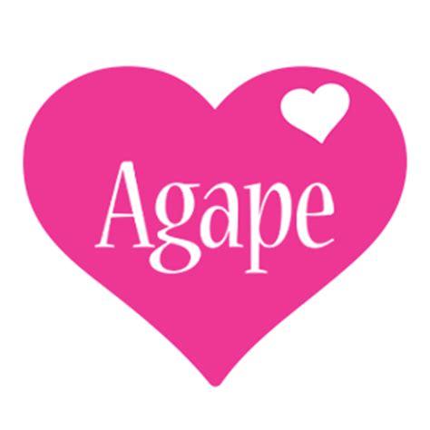 name style design agape logo name logo generator i love love heart