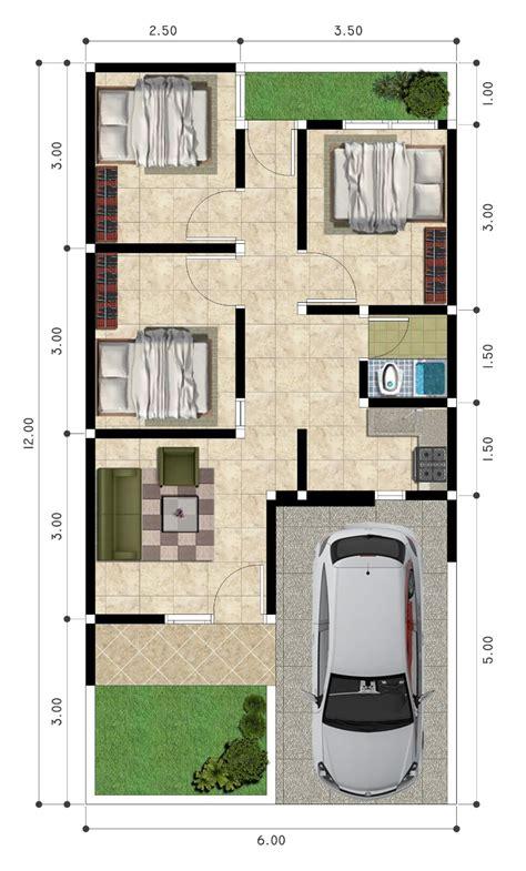 desain  denah rumah minimalis wallpaper dinding