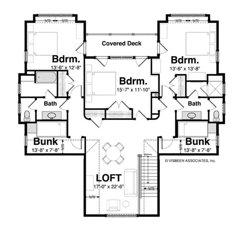upstairs floor plans floor plans aflfpw76003 0 story cottage home with 5 bedrooms 4 bathrooms and 4 608 total