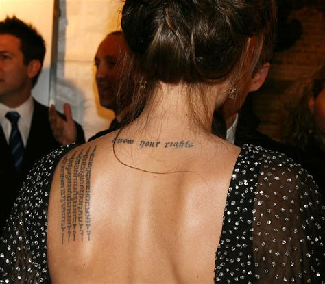 tattoo on angelina jolie s hand angelina jolie tattoos pictures images pics photos of her