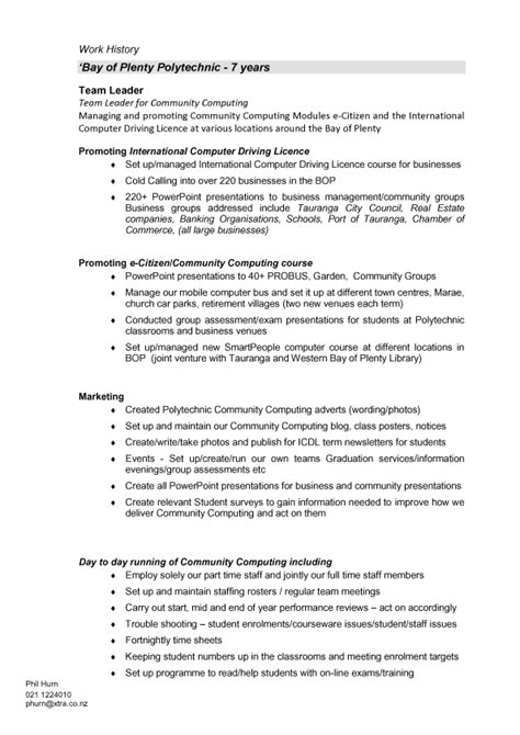 Resume Format Resume Template New Zealand Cv Template Nz