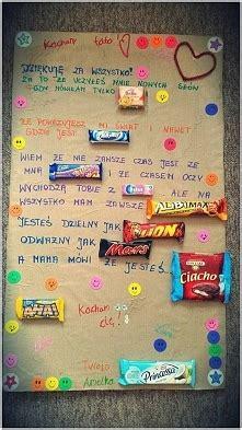 Plakat Z Batonami by Pomysl Na Prezenty Na Prezenty Zszywka Pl