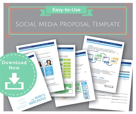 easy to use social media proposal template to win clients