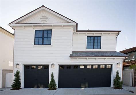 image result  white house black garage door farmhouse