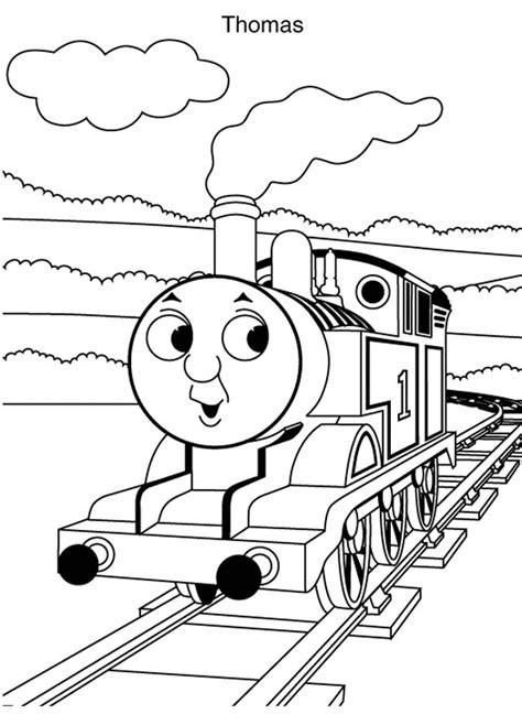 30 Gambar Mewarnai Thomas and Friends Untuk Anak PAUD dan TK