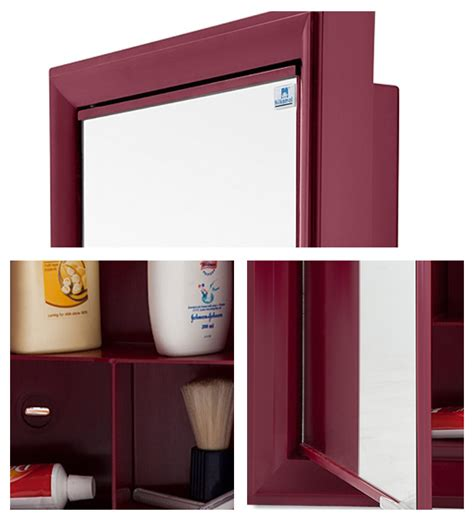 nilkamal bathroom cabinets nilkamal gem mirror cabinet maroon by nilkamal