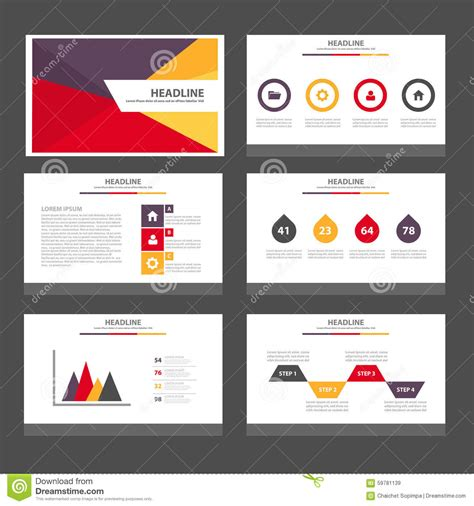 layout design in advertising ppt purple red brochure template design layout yellow flyer