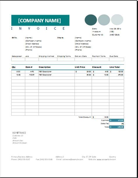 Invoice With Discount Template Platte Sunga Zette Invoice With Discount Template