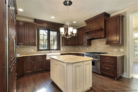 pics of kitchens with dark cabinets pictures of kitchens traditional dark wood kitchens