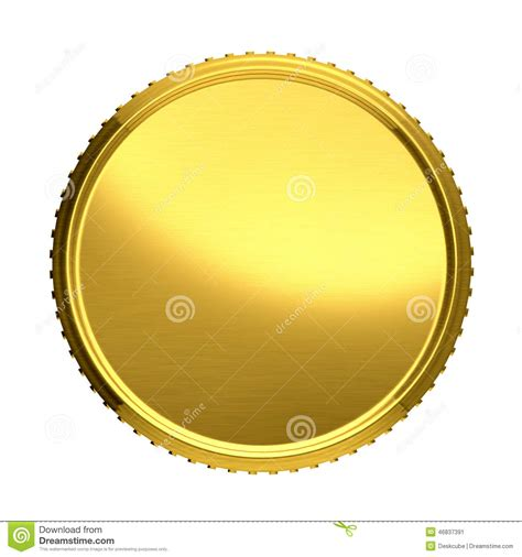 gold coin template gold coin stock illustration image 46837391