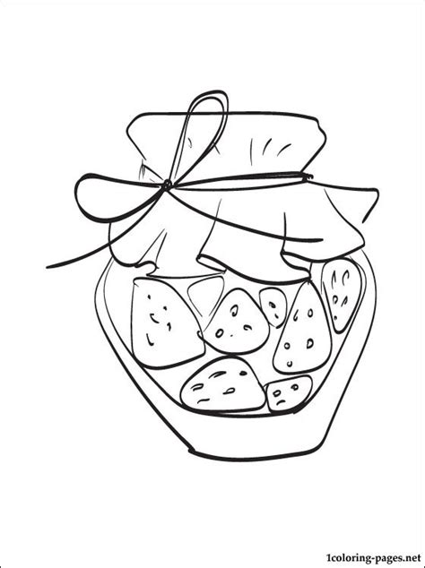 jam coloring page coloring pages