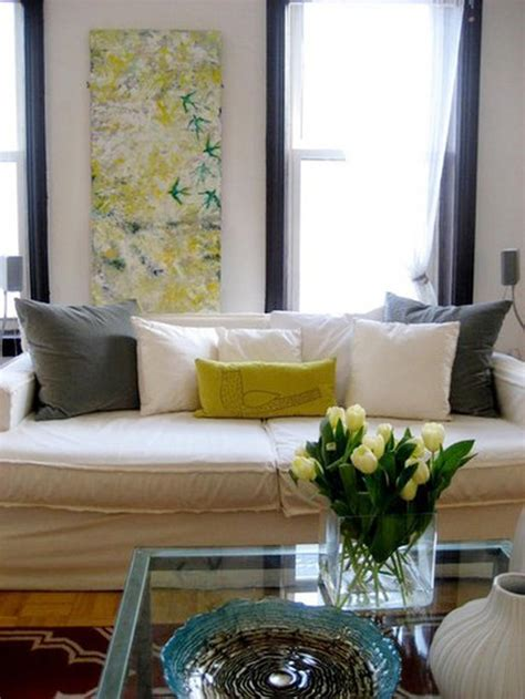 yellow and white living room serenity in design november 2010
