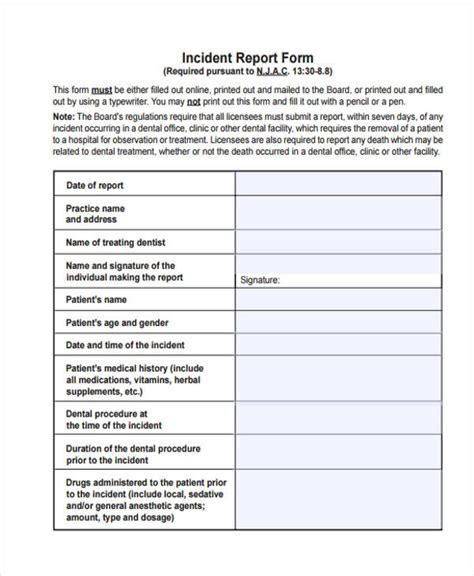 sle patient care report patient incident report form template 28 images best