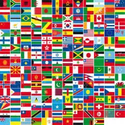 vente de drapeaux des pays du monde