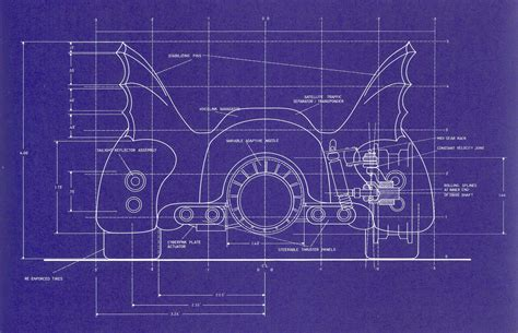 blueprints 1989 batmobile blueprints