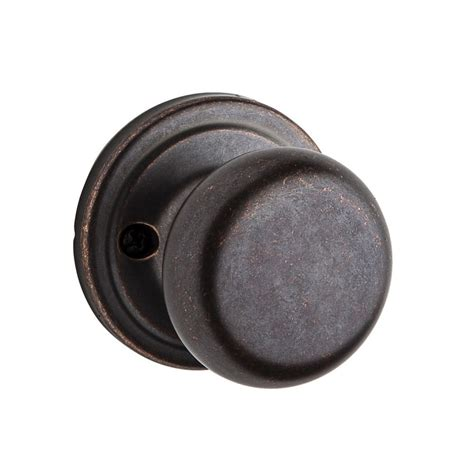 Kwikset Rubbed Bronze Door Knobs by Shop Kwikset Signature Hancock Rustic Bronze Dummy Door