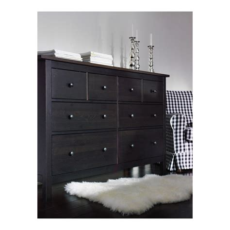 hemnes 5 drawer chest black brown hemnes chest of 8 drawers black brown 160x96 cm ikea