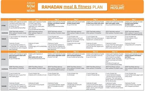 Productive Muslim Detox by The Fasting And The Fit 30 Day Ramadan Meal And Fitness
